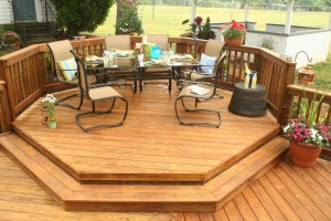 Southern Yellow Pine Octagon Shaped Deck