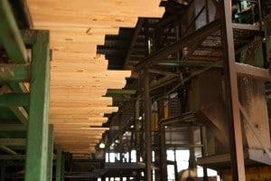 lumber at a sawmill