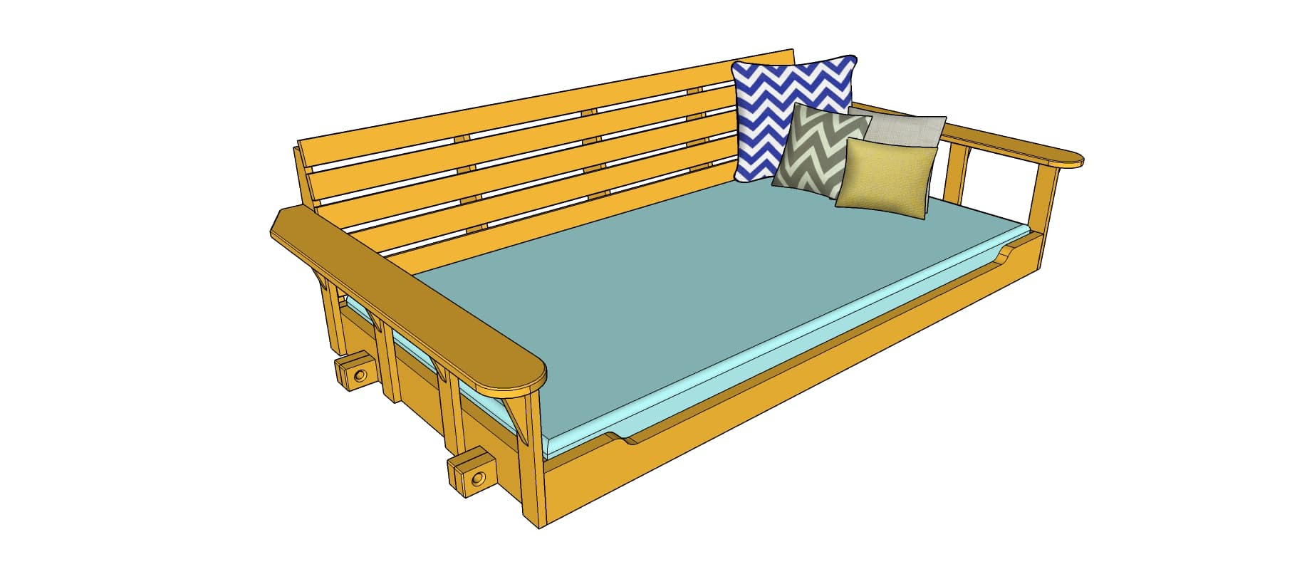 Build A Porch Bed Swing Plans And Video How To Wood It S Real Wood It S Real