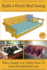 Southern Yellow Pine Porch Bed Swing