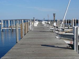 treated pine dock