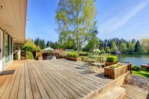 SYP Wood deck at a lake