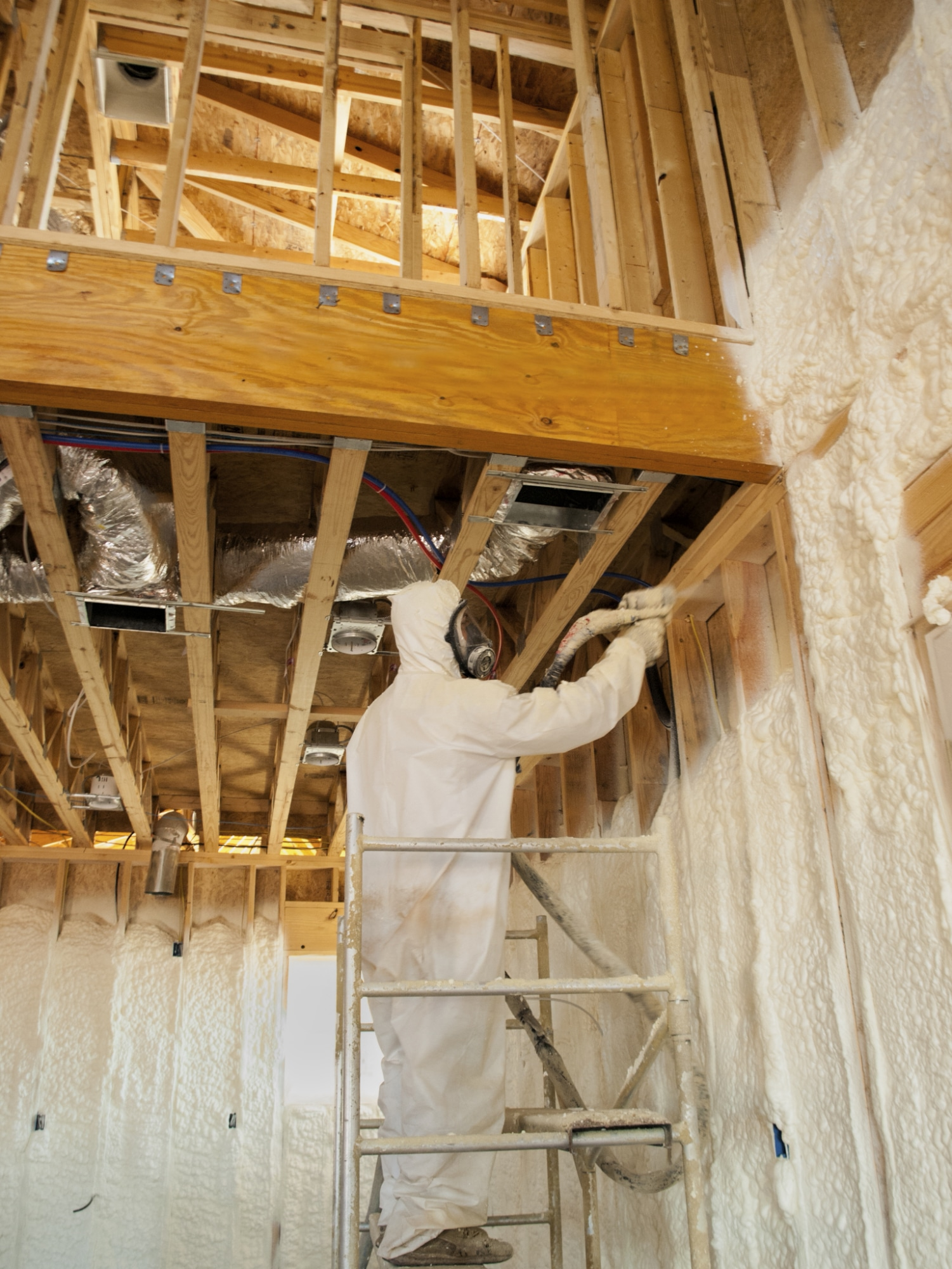 Going green wood foam insulation spray wood it 39 s real for Alternatives to spray foam insulation