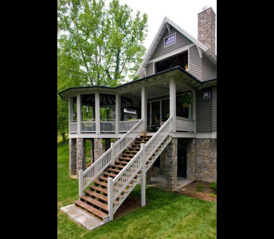 Pretty deck stairs from Wood. It's Real.