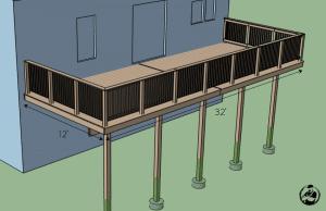 attached deck plans