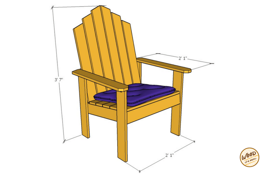Chattahoochee Chair DIY Wood Chair from Wood. It's Real.