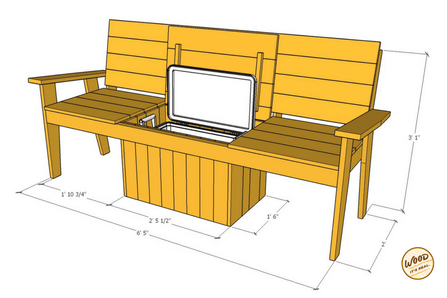 Build It The Most Amazing Cooler Bench Ever Wood It S
