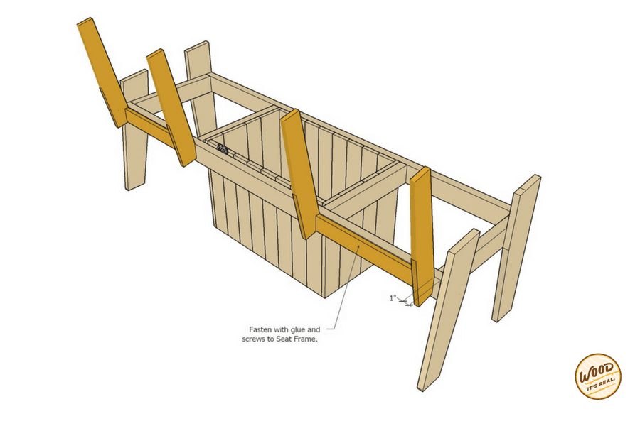 Build it the most amazing cooler bench ever wood it 39 s real wood it 39 s real - Made to measure bench seating ...