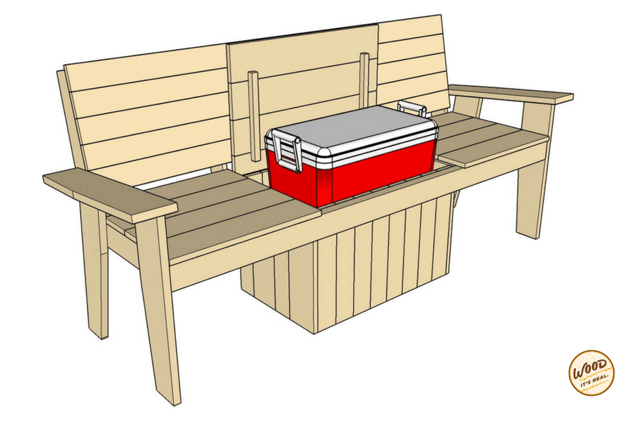 Build It The Most Amazing Cooler Bench Ever Wood It S Real