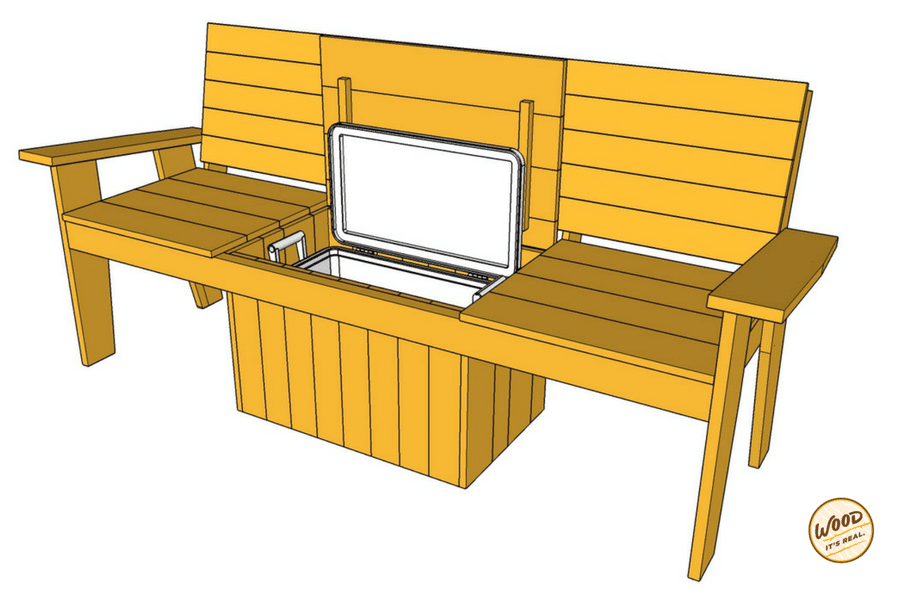 Build It: The Most Amazing Cooler Bench Ever - Wood. It\'s Real ...