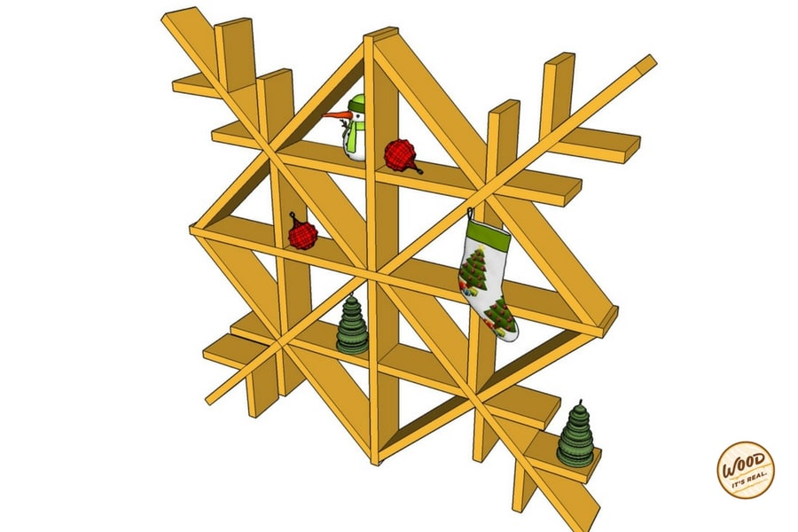 DIY Southern Yellow Pine Decking Board Snowflake