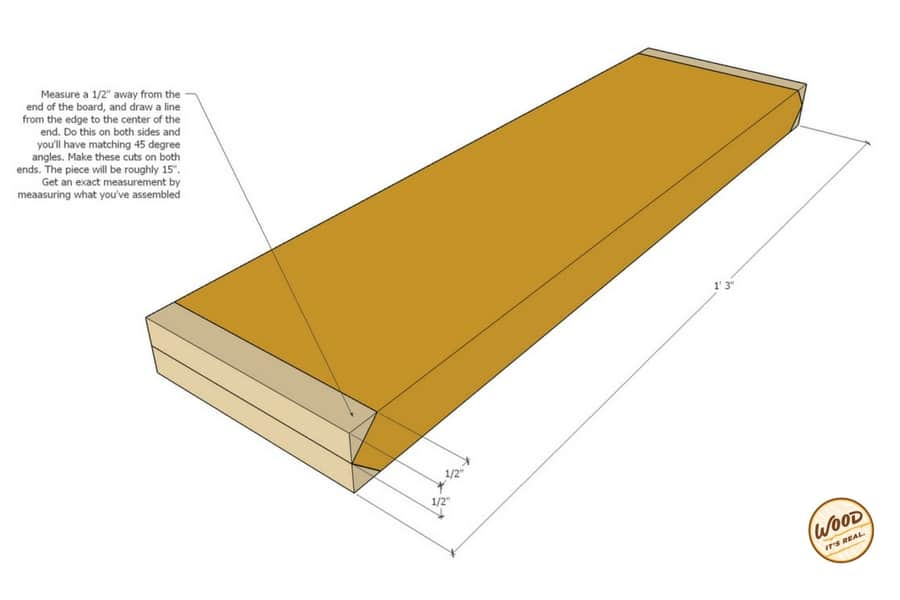 DIY Southern Yellow Pine Decking Board Snowflake