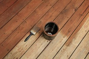 stain deck