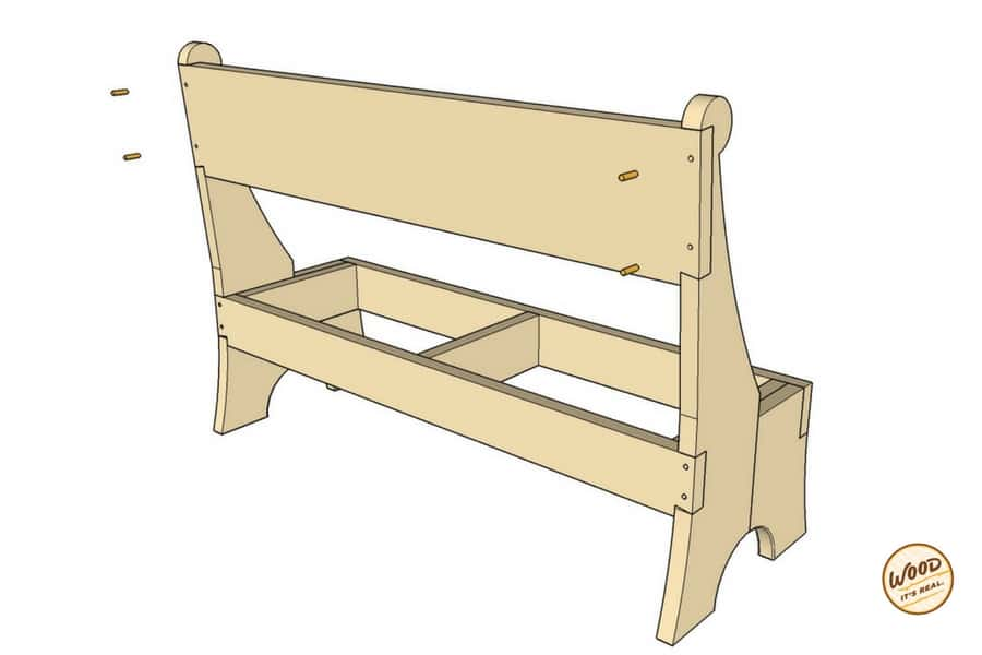 DIY Southern Yellow Pine Garden Bench from Wood. It's Real.