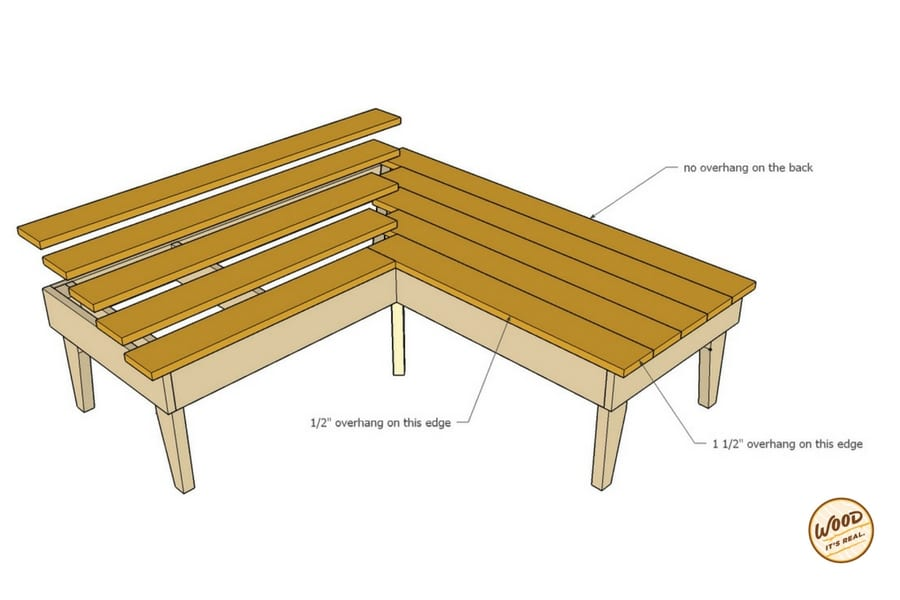 Southern Yellow Pine DIY Loveseat from Wood. It's Real.