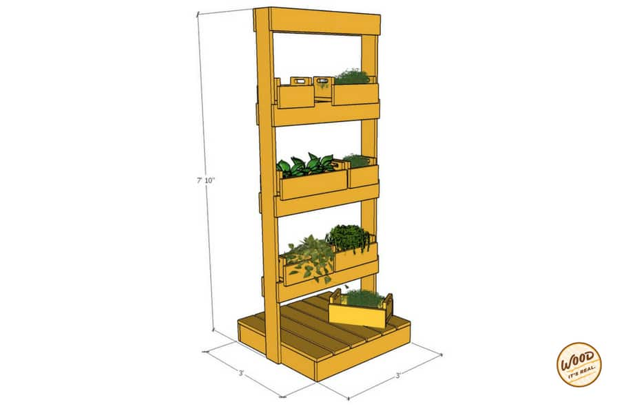 Mix and Match Vertical Garden Plans from Wood. It's Real.