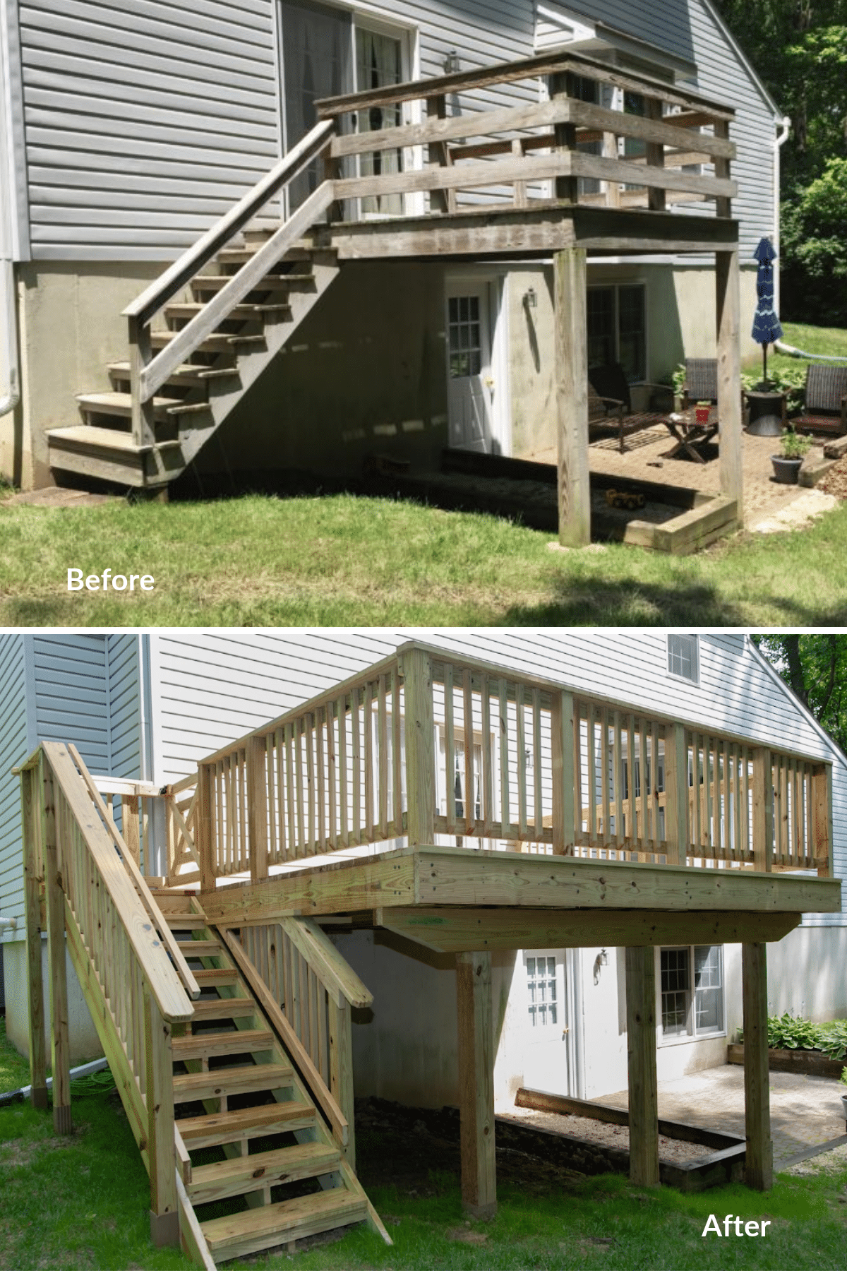 Before and after deck from Wood. It's Real.