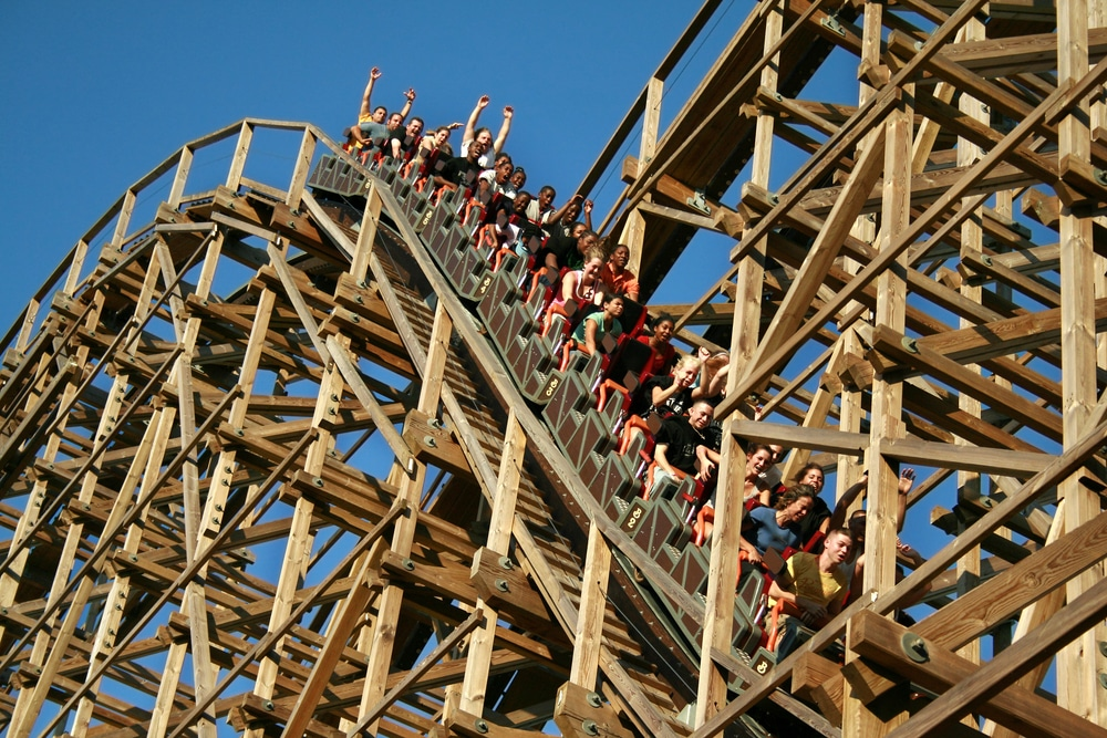 Southern Yellow Pine wooden roller coasters